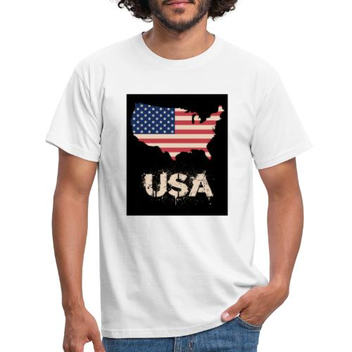 USA FLAG 4th of July With Flag - T-shirt herr
