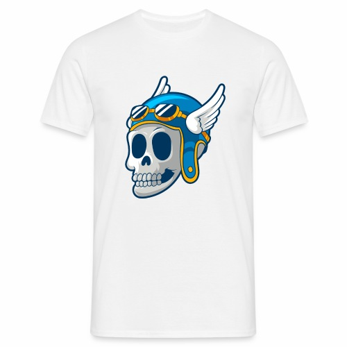 Skull with winged Helmet - Men's T-Shirt