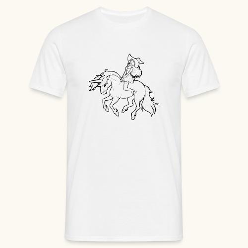 Monter une sorcière sexy sur une licorne. - T-shirt Homme