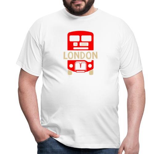 London Bus Roter Doppeldecker London Fan Souvenir - Männer T-Shirt