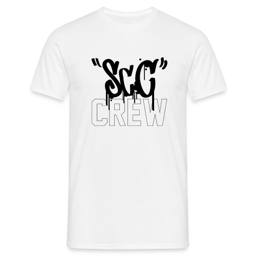 ScC CREW Logo Zwart - Mannen T-shirt