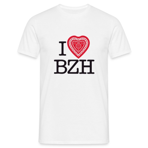 I love BZH red black - T-shirt Homme