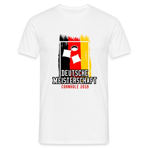 Deutsche Meisterschaft 2018 Cornhole - Logo - Männer T-Shirt