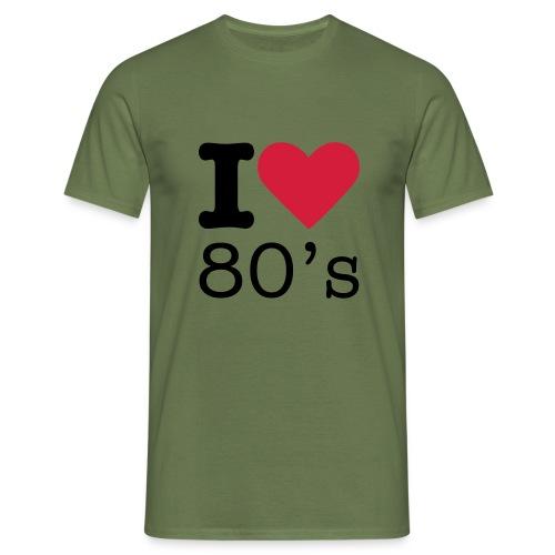 I Love 80 s - Mannen T-shirt
