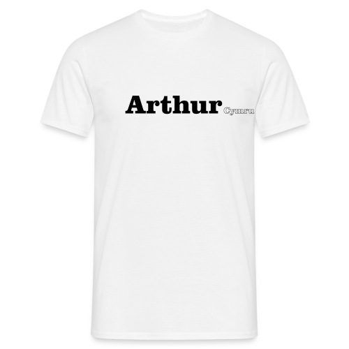arthur cymru black - Men's T-Shirt