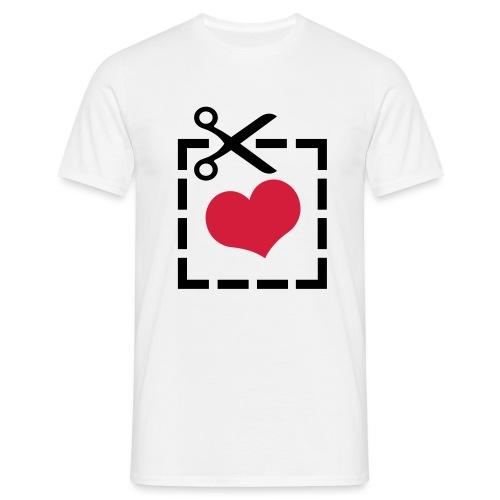 Cut Out Heart - T-shirt herr