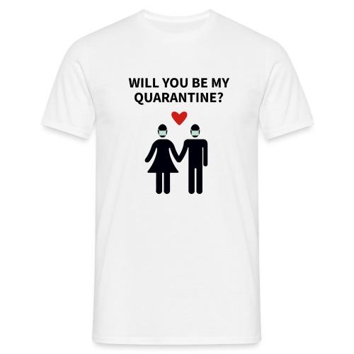 Liebespaar mit Schriftzug - Männer T-Shirt