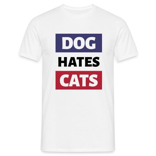 Dog Hates Cats - Männer T-Shirt