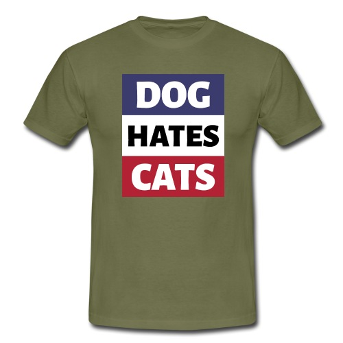 Dog Hates Cats - Männer T-Shirt