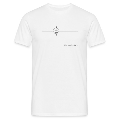 stilte zonder storm - Mannen T-shirt
