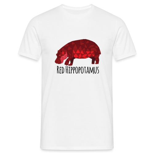 Red Hippopotamus - T-shirt Homme