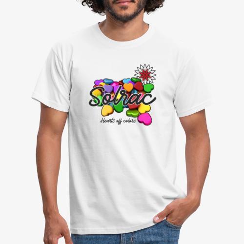 SOLRAC Hearts White - Camiseta hombre