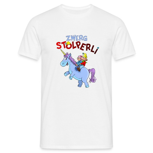 Zwerg Stolperli und das blaue Einhorn - Männer T-Shirt