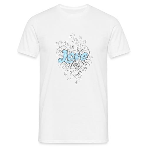LOVE CON DECORI - Maglietta da uomo