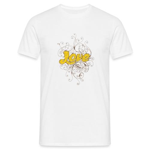 Scritta Love con decorazione - Maglietta da uomo