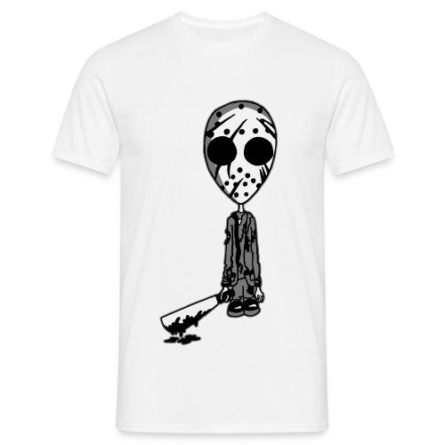 Jason 13th White Background - Men's T-Shirt