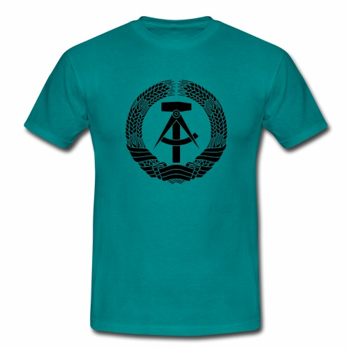 DDR Wappen (schwarz) - Men's T-Shirt