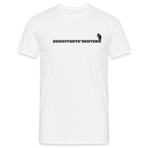 Rentner mit Linie schwarz png - Männer T-Shirt