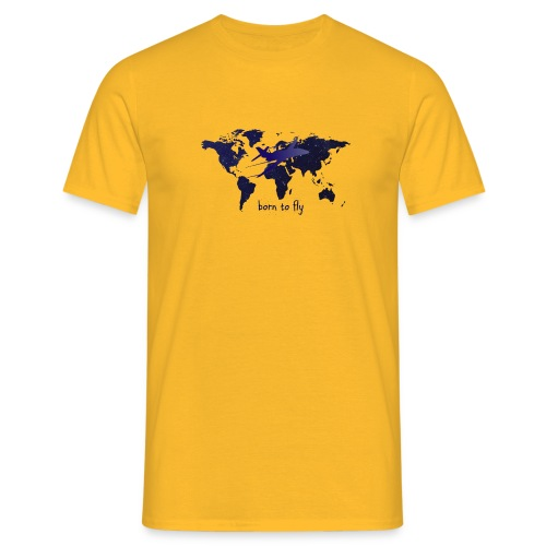 born to fly (Blue Galaxy) - Männer T-Shirt