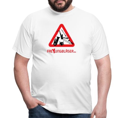 Freyungbläser Design 2 (sw/rot) - Männer T-Shirt