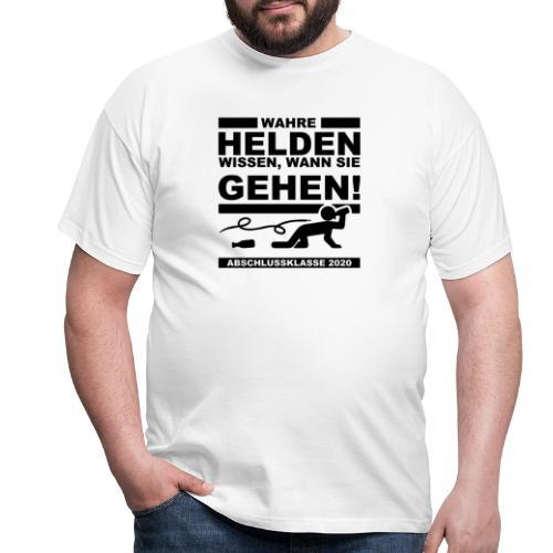 Wahre Helden wissen, wann sie gehen - Männer T-Shirt