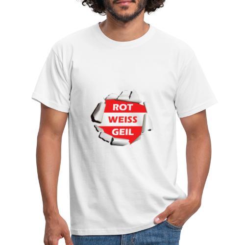 rot weiß geil rwr - Männer T-Shirt