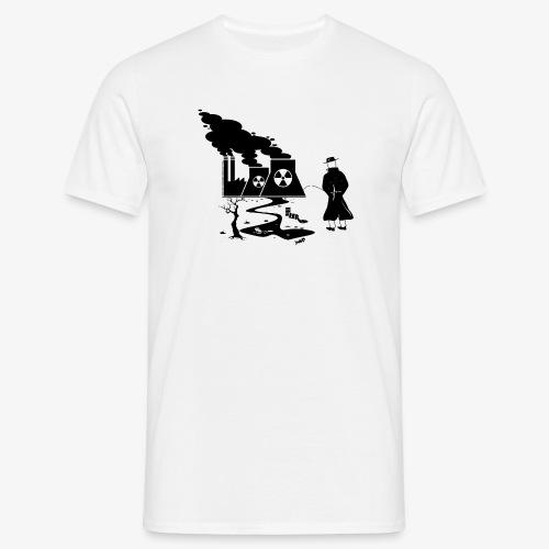 Pissing Man against environmental pollution - Männer T-Shirt