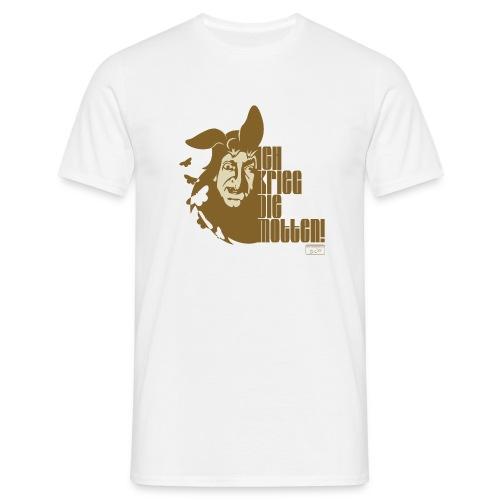 Ich krieg die Motten mit Portrait - Männer T-Shirt
