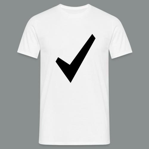 spunta nera - Maglietta da uomo