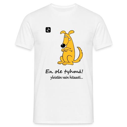 istuva koira s - Miesten t-paita