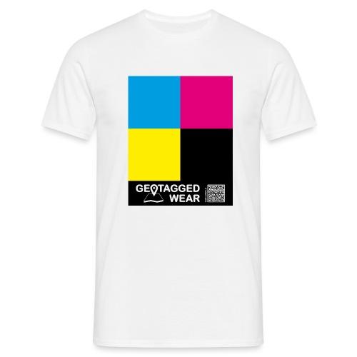 Square CMYK #1 - CMYK Collection - Männer T-Shirt