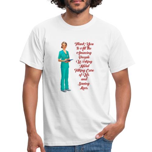 thank you medical, danke an die Medeziner - Männer T-Shirt