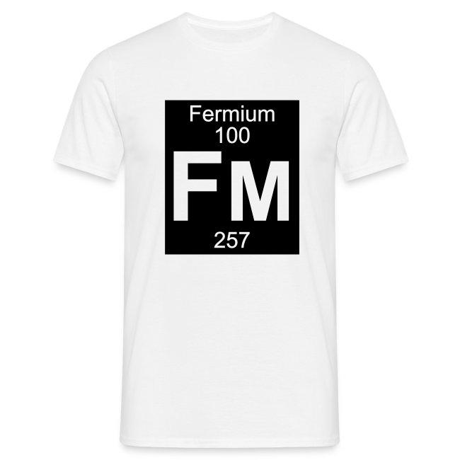 Element 100 - fm (fermium) - Inverse (Full) | T-shirt herr