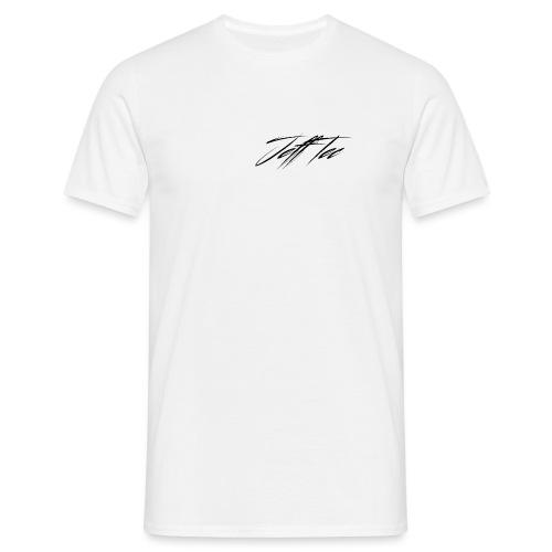 JeffTec Signature Logo White - Men's T-Shirt