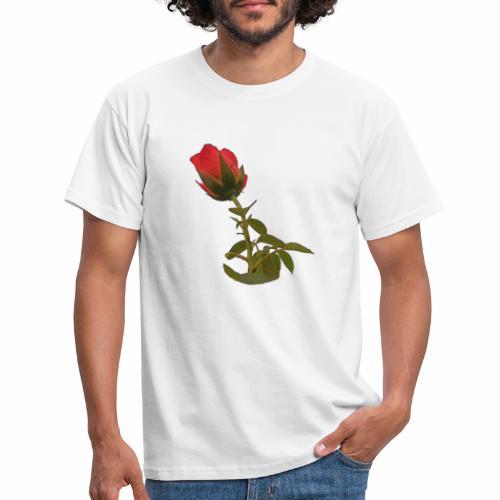 Rote Kletter Rose - Männer T-Shirt