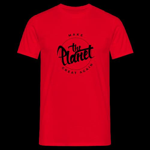 MakeThePlanetGreatAgain Organic Shirt White - Men's T-Shirt