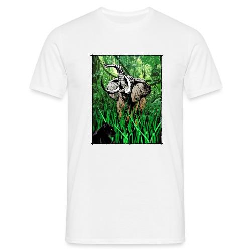 Waldelefant in Afrika - Männer T-Shirt