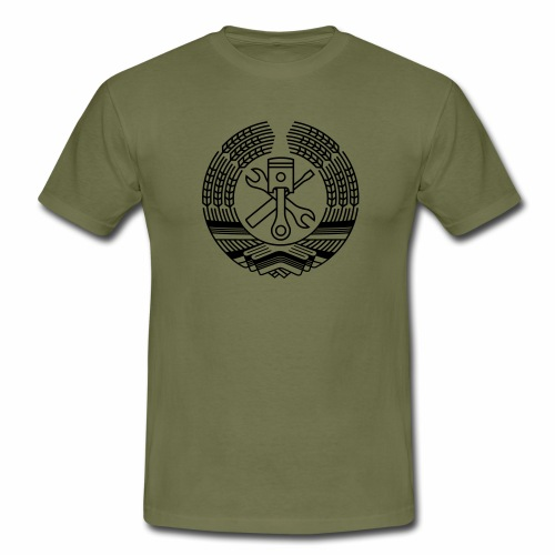 DDR Tuning Coat of Arms 1c (+ Your Text) - Men's T-Shirt
