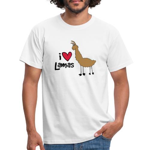 I love Lamas - Männer T-Shirt