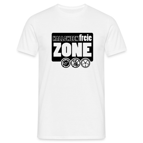 Halloweenfreie Zone - Männer T-Shirt