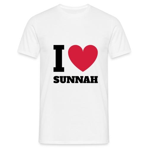 ilovesunnah - Männer T-Shirt