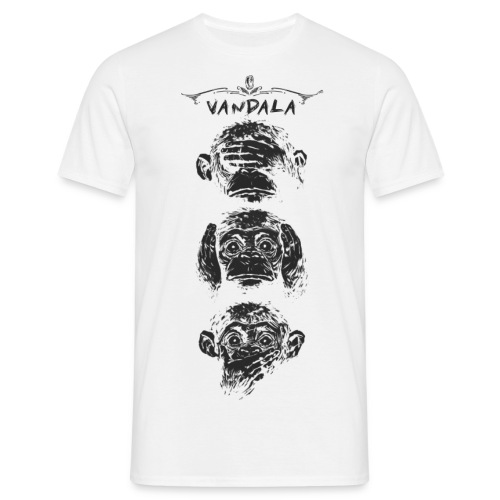 3 wise monkey - Männer T-Shirt