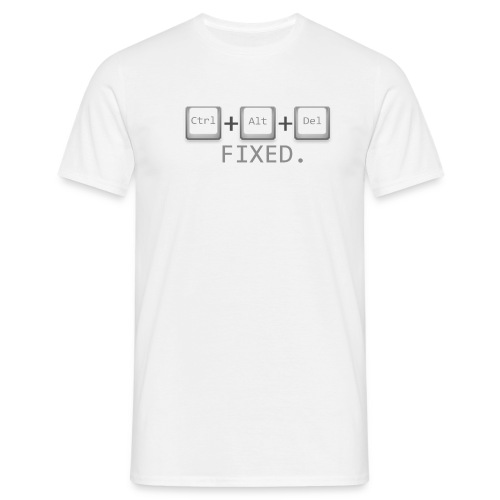 Ctrl Alt Del Fixed - Men's T-Shirt
