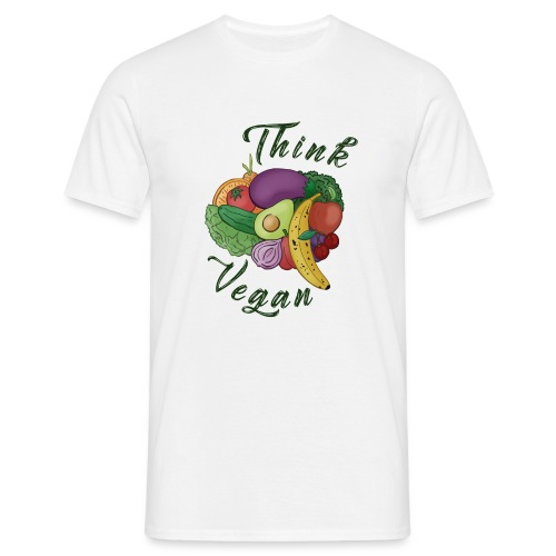 Think Vegan dunkel - Men's T-Shirt