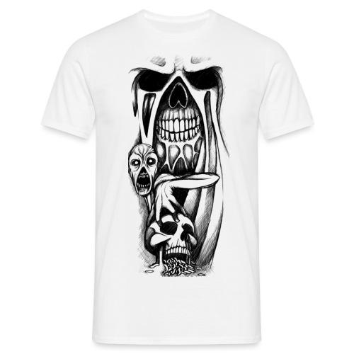 grey ink evil zombie tattoo designs - Koszulka męska