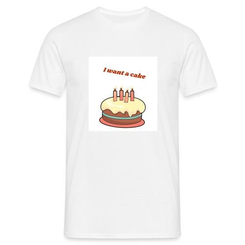 I want a cake - T-shirt herr