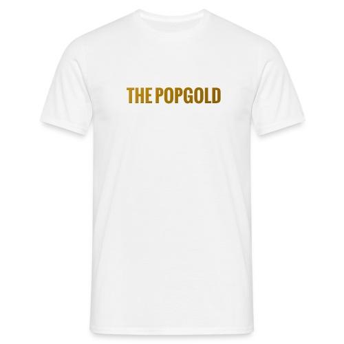 schrift gold - Männer T-Shirt