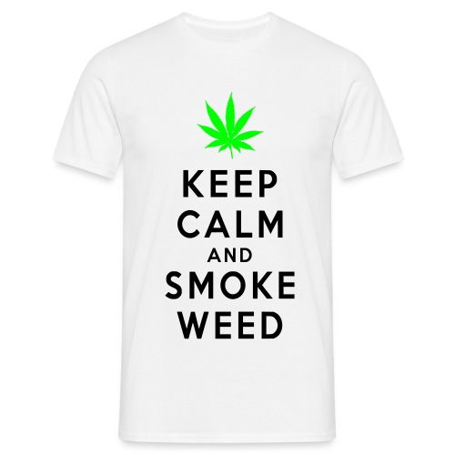Keep Calm and Smoke Weed - Maglietta da uomo