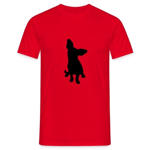Chihuahua istuva musta - Miesten t-paita