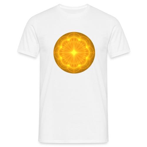 Golden Radiance Mandala Heart - Mannen T-shirt